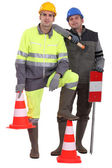 A team of traffic guards — Stock Photo