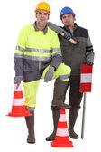 Ett team av trafik vakter — Stockfoto