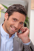 Gentleman giving a phone call — Stock Photo