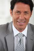 Close-up usmívající se podnikatel — Stock fotografie