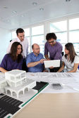 Group of working in an architect's office — Stock Photo