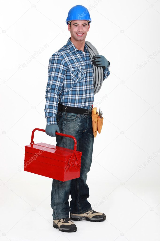 Craftsman posing  Stock Photo #8105281