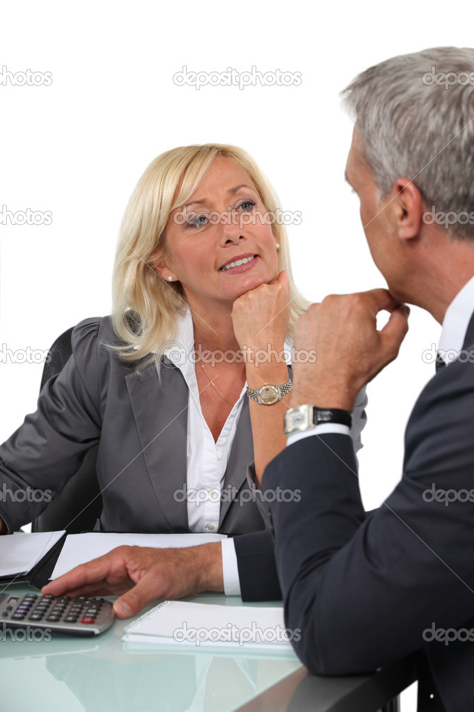 Two office workers in meeting — Stock Photo #8108282