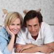 Couple on a bed — Stock Photo #8111284