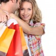 Stock Photo: Couple on shopping trip