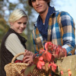 Stock Photo: Couple in countryside