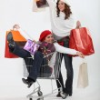 Friends on retail blowout — Stock Photo #8111937