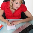 Secretary working at her desk — Stock Photo #8112504
