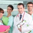 Resident and interns in hospital — Stock Photo #8118257