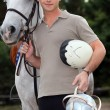 Stock Photo: Young horseback rider