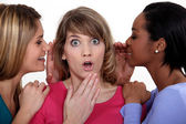Trio of female gossips — Stock Photo