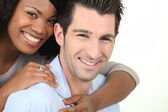 Portrait of a mixed-race couple — Stock Photo