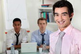 Young business professionals in a meeting — Stock Photo