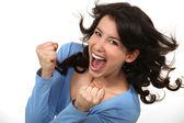 Jubilant woman — Stock Photo