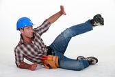 Travailleur de la construction dans un accident — Photo