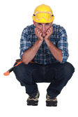Craftsman thinking — Stock Photo