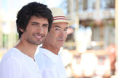 Two men out on a summer's day — Stockfoto