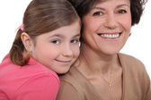 Child and grandmother — Stock Photo