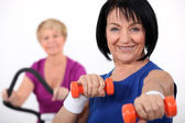 Mature women working out — Stock Photo