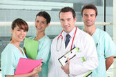 Resident and interns in hospital — Stock Photo