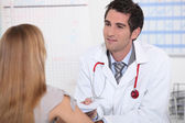 Visiting the GP — Stock Photo
