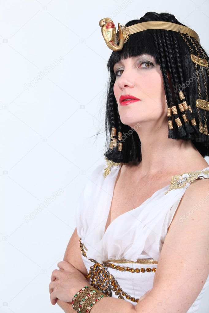 Woman in Cleopatra costume  Stock Photo #8111849