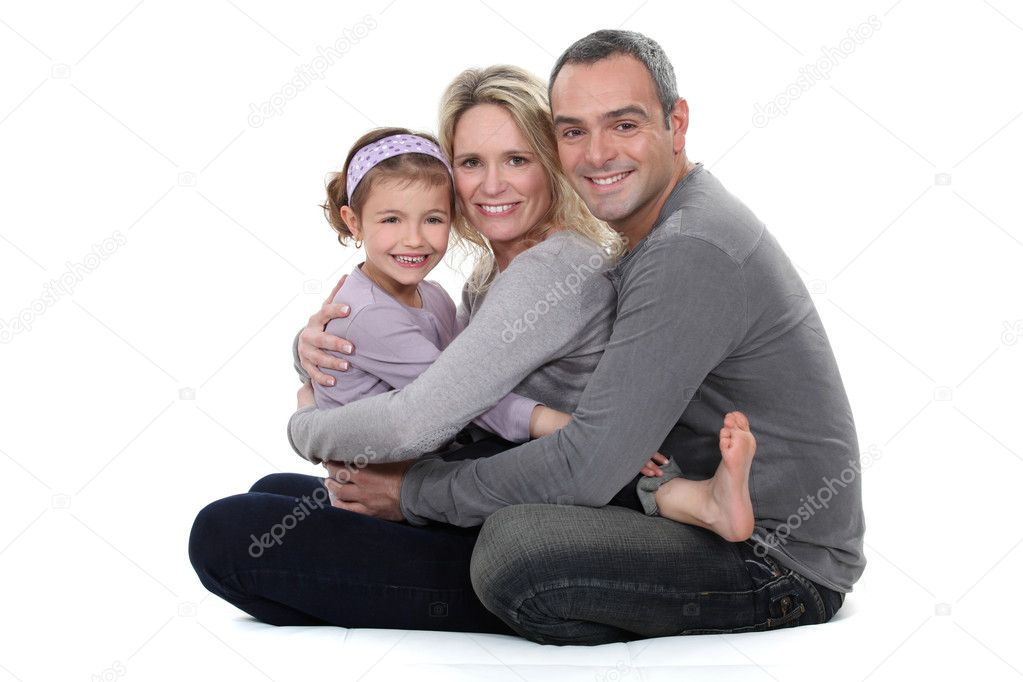 Family hug — Stock Photo #8115397