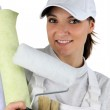 A female house painter — Stock Photo