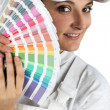Decorator with color swatches — Stock Photo #8126700