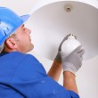 Installing a new light bulb — Stock Photo #8127671