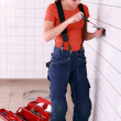 Stock Photo: Young handywoman
