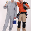 Stock Photo: Friendly tradesmen