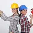 Stock Photo: Team of tradeswomen
