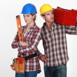 Couple with tools — Stock Photo #8128560