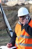 An unhappy foreman onsite. — Stock Photo