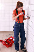 Young handywoman — Stock Photo