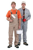 Two house painters — Stock Photo