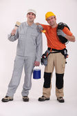 Friendly tradesmen — Stock Photo