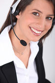 Telesales woman — Stock Photo