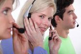 A customer service hotline. — Stock Photo