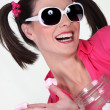 Woman acting silly - Stock Photo