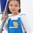 Girl dressed as a painter — Stock Photo #8163869
