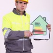 Concerned construction worker — Stock Photo #8164194