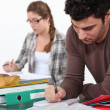 Stock Photo: Students studying