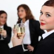 Three businesswomen toasting success — Stock Photo #8166786