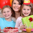 Kids at a birthday party — Stock Photo