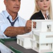 Architects with a 3D model — Stock Photo #8167018