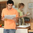 Couple in the kitchen — Stock Photo #8167807