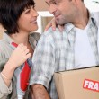 Stock Photo: Couple moving into new home