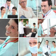 Stock Photo: Hospital staff mosaic